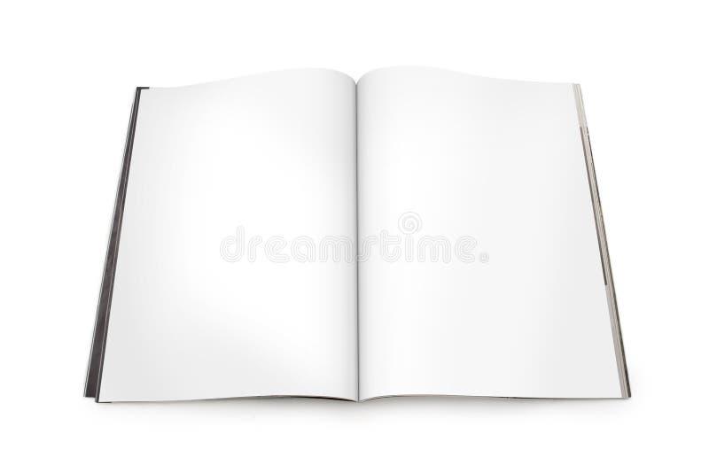 Compartimento aberto espalhado com páginas em branco foto de stock royalty free