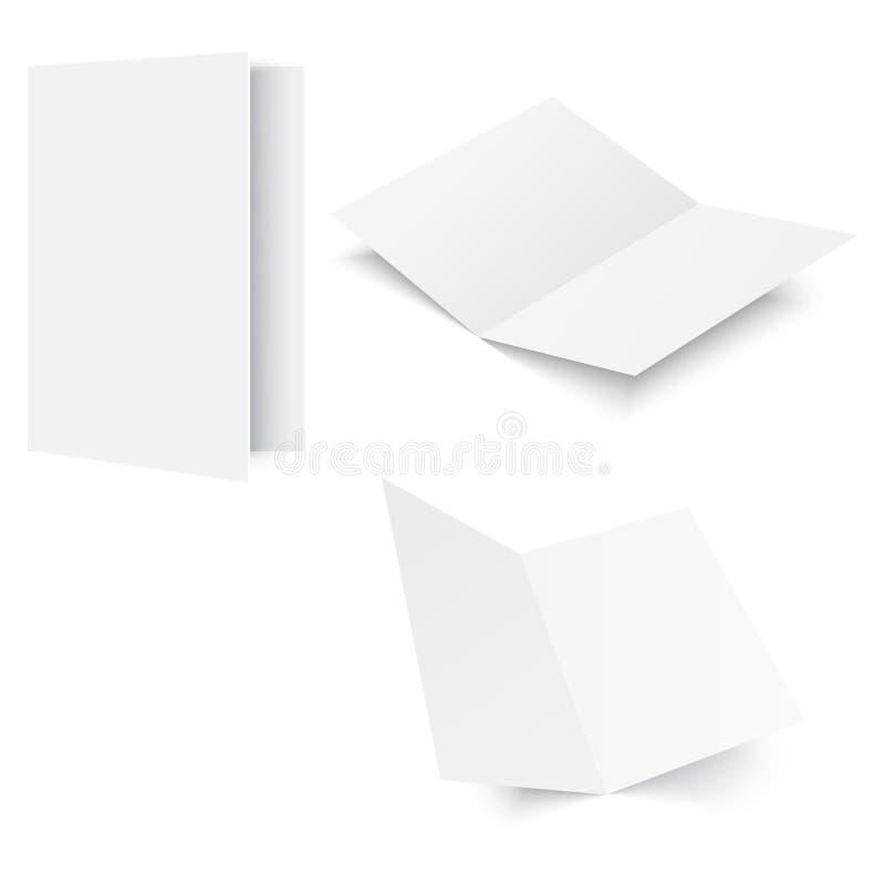 Compartimento aberto modelo no branco Vetor ilustração royalty free