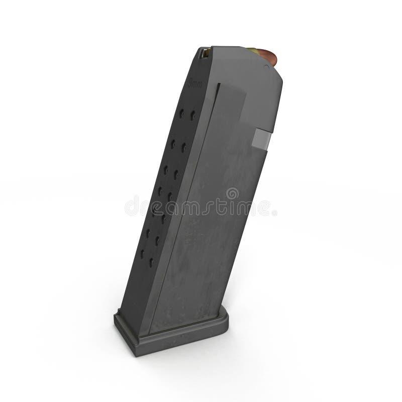 Compartimento da munição no branco ilustração 3D ilustração do vetor
