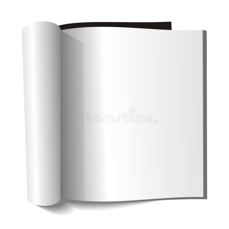 Compartimento em branco. Página em branco. ilustração stock