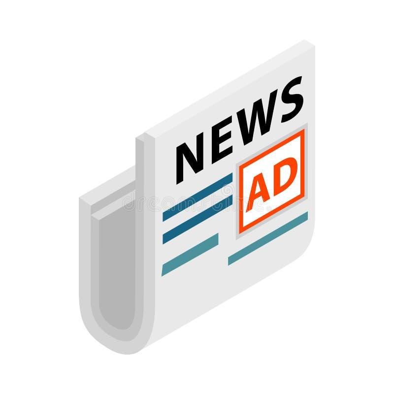 Compartimento, jornais com um lugar para anunciar ilustração stock
