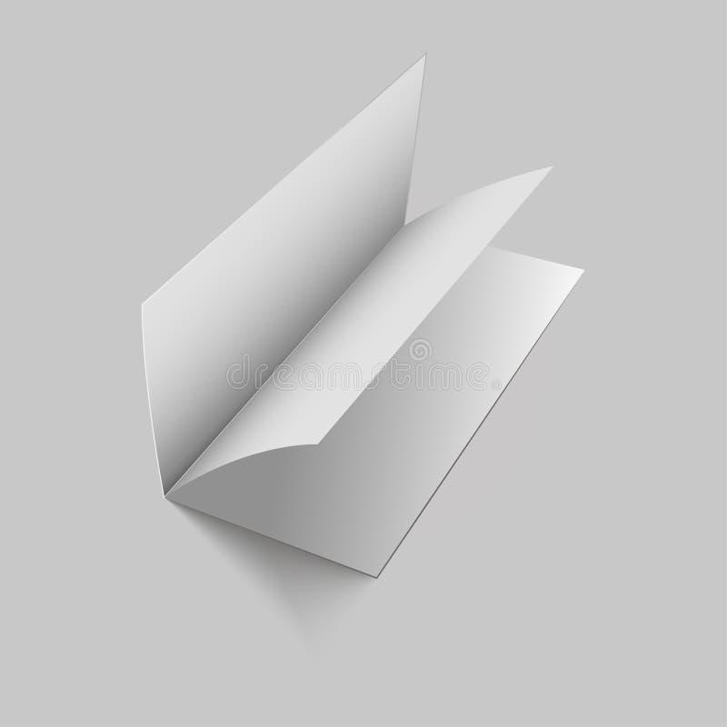 Compartimento ou livro ou brochura vazia vazia, folheto, catálogo, leafle Ilustração do vetor ilustração stock