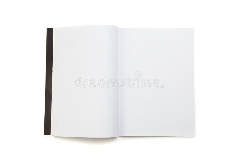 Compartimento vazio da página branca imagem de stock