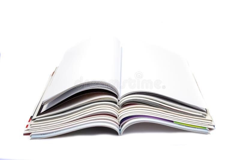 Compartimento vazio da página branca imagens de stock