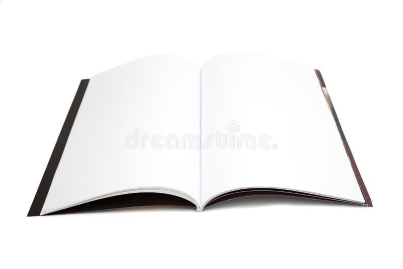 Compartimento vazio da página branca isolado fotos de stock royalty free