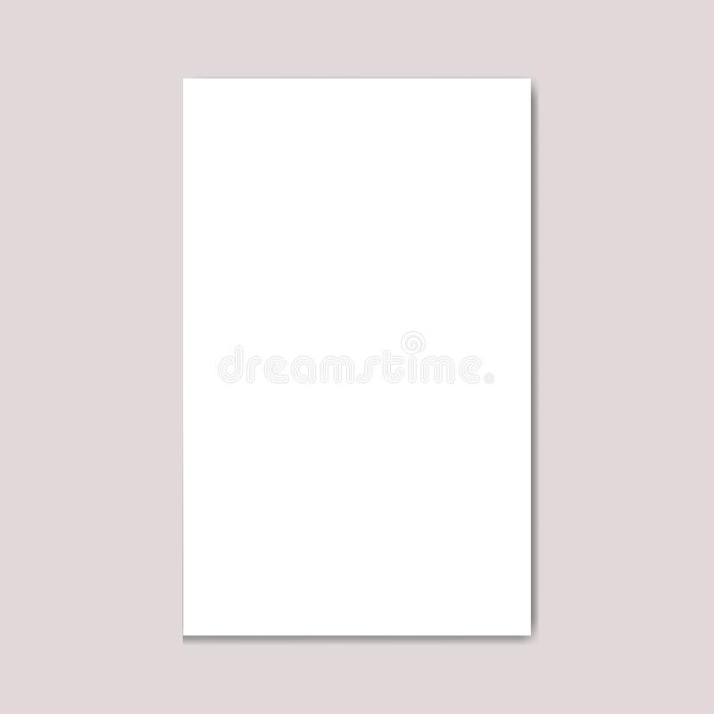Compartimento vazio do folheto do formato da Nos-letra da paisagem ilustração do vetor