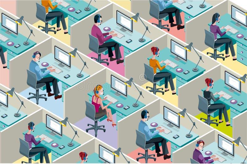 Compartimentos isométricos do escritório ilustração royalty free