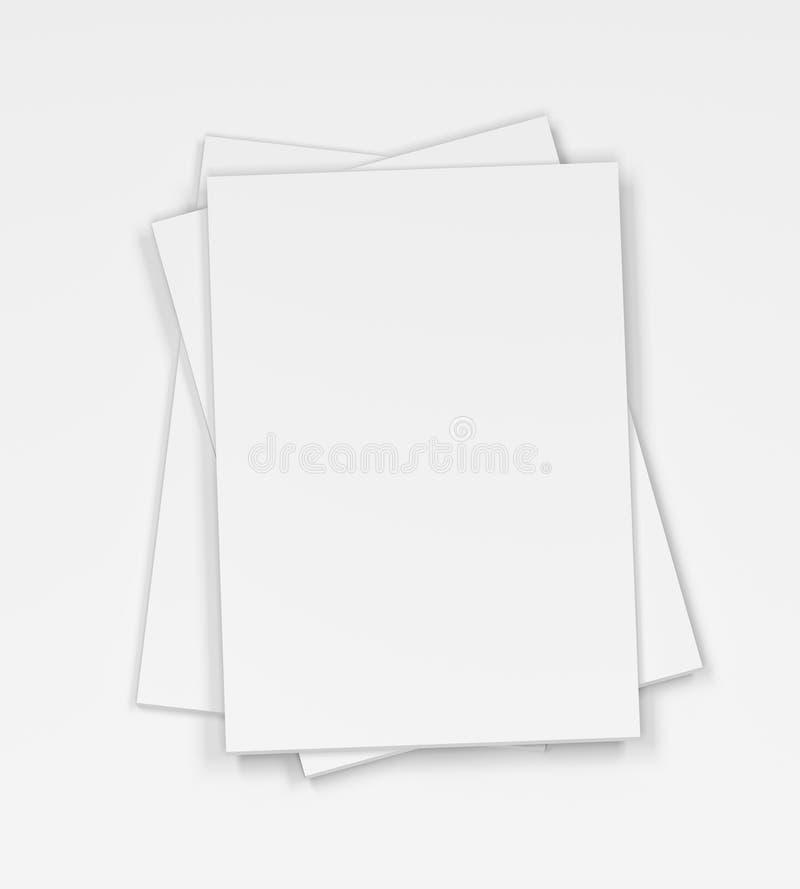 Compartimentos vazios no fundo branco ilustração stock