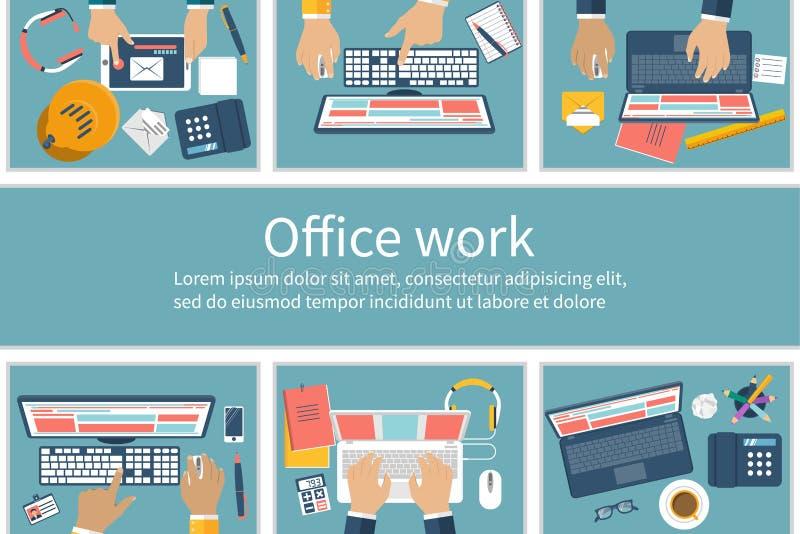 Compartiments de bureau avec des personnes illustration stock