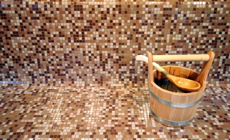 Compartimiento de la sauna fotografía de archivo libre de regalías
