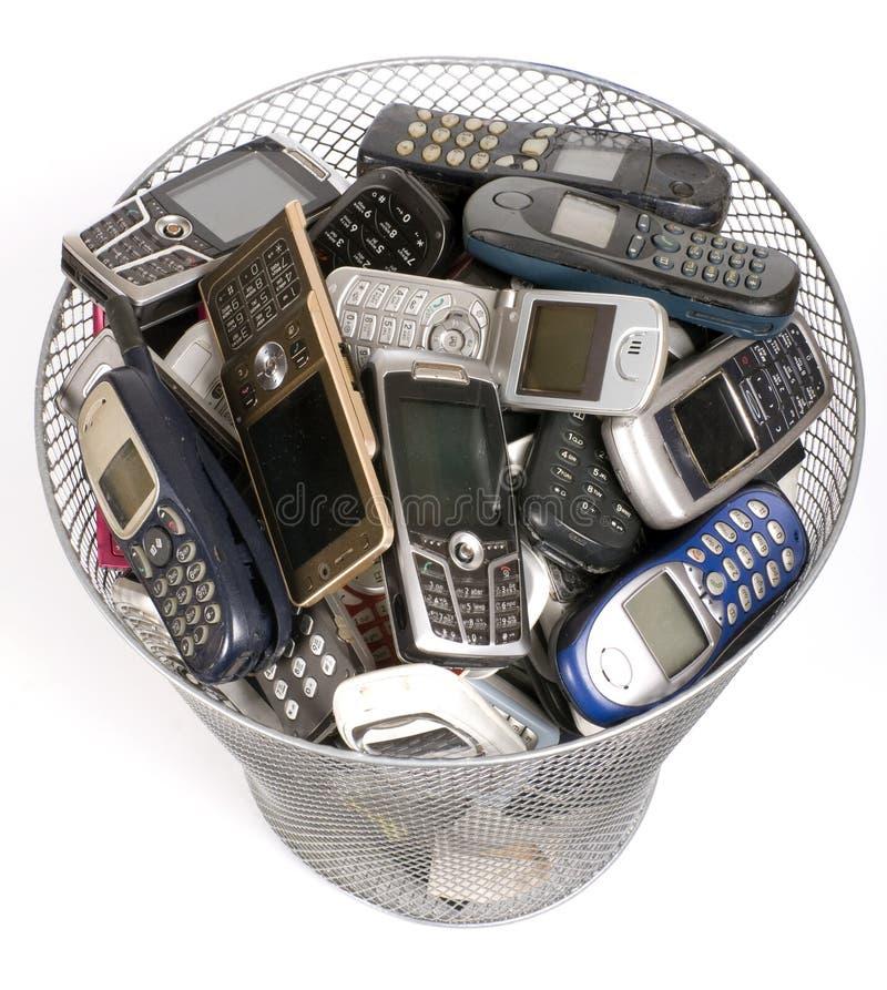 Compartimiento de los desperdicios imagen de archivo