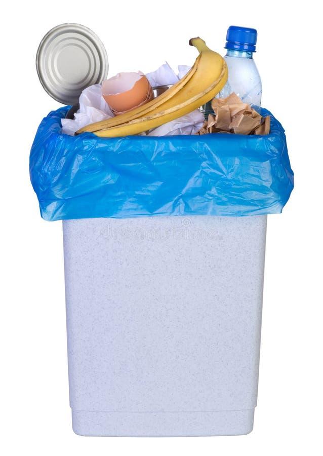 Compartimiento por completo de los desperdicios foto de archivo libre de regalías
