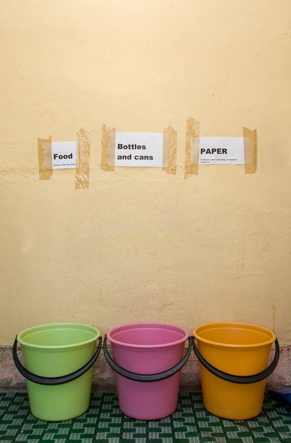 Compartimientos de reciclaje fotografía de archivo libre de regalías