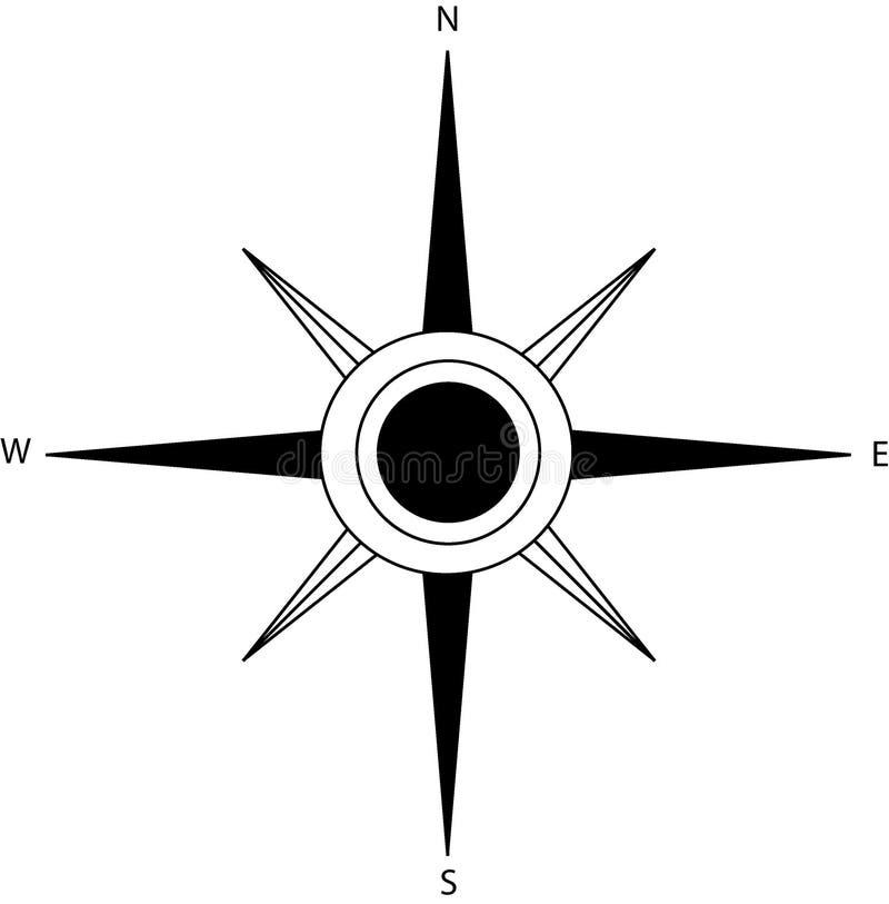 Compas上升了 免版税图库摄影