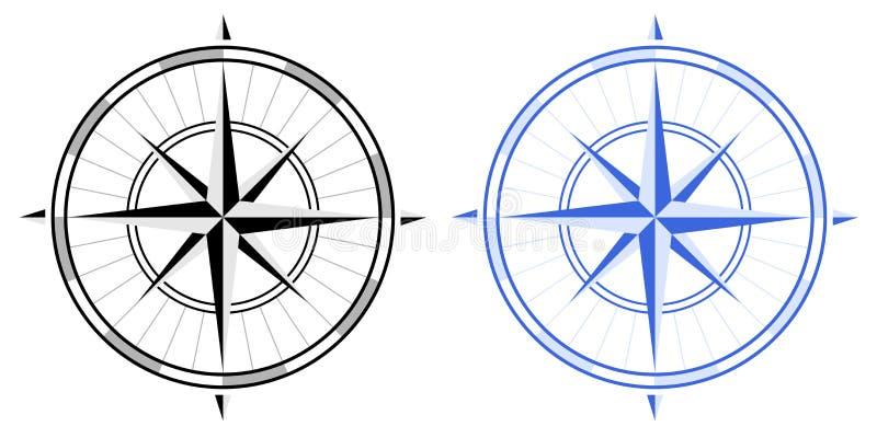 Compas aumentou ilustração do vetor