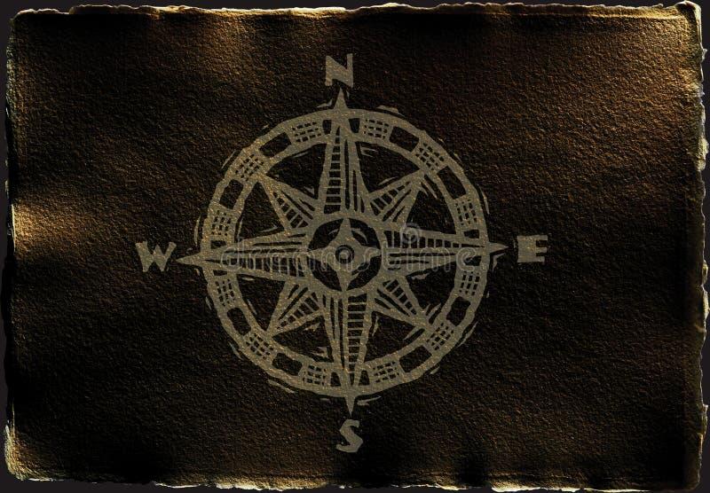 Compas in bruin royalty-vrije illustratie