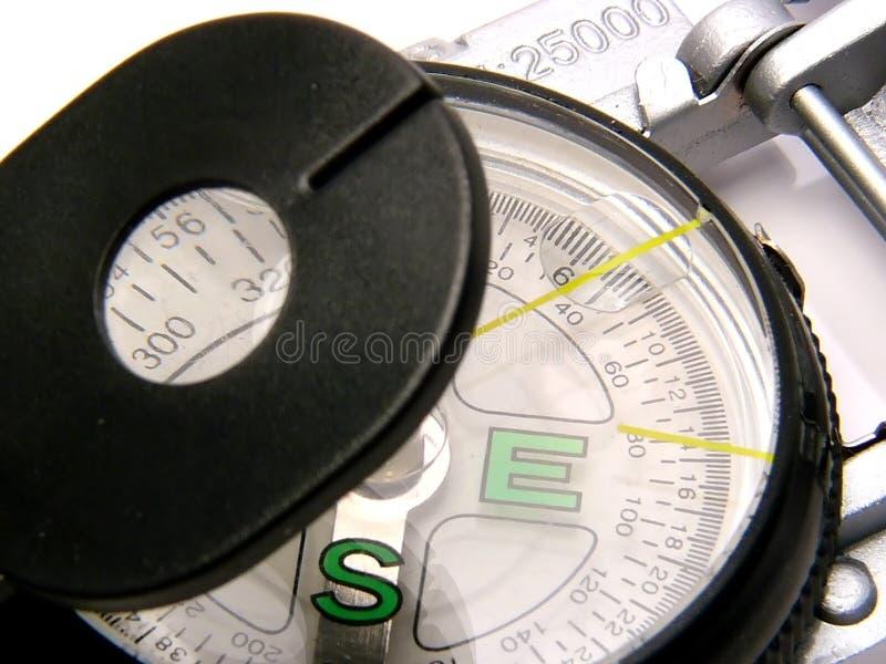 Download Compas contemporain image stock. Image du orienteering, magnifiez - 72973