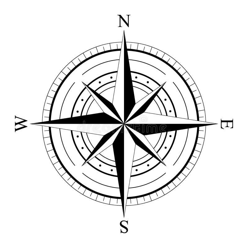 Compas cor-de-rosa do vento ilustração royalty free