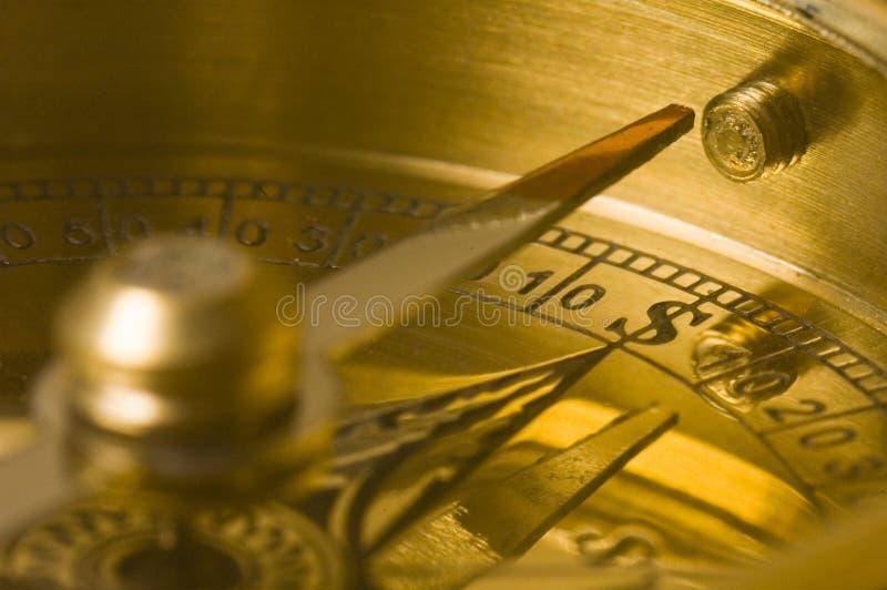 Compas d'or de vieux type photographie stock libre de droits