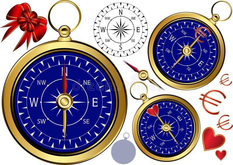 Compas d'or pour des affaires. illustration libre de droits