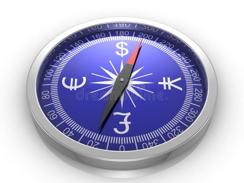 Compas de finances illustration stock