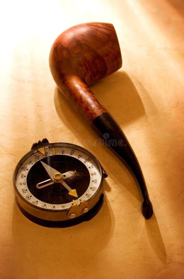 Compas e tubo fotografie stock libere da diritti