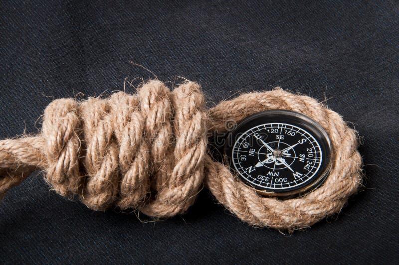 Compas et corde photo libre de droits