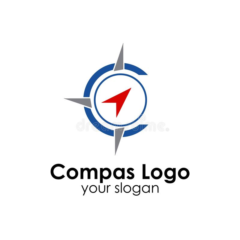 Compass logo template design vector icon illustration. Compas logo template design vector icon illustration, compass, nautical, travel, east, west, north, south royalty free illustration