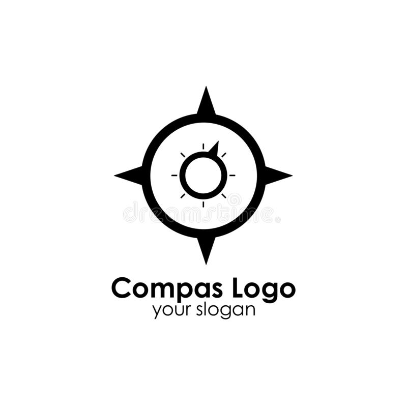 Compass logo template design vector icon illustration. Compas logo template design vector icon illustration, compass, nautical, travel, east, west, north, south stock illustration
