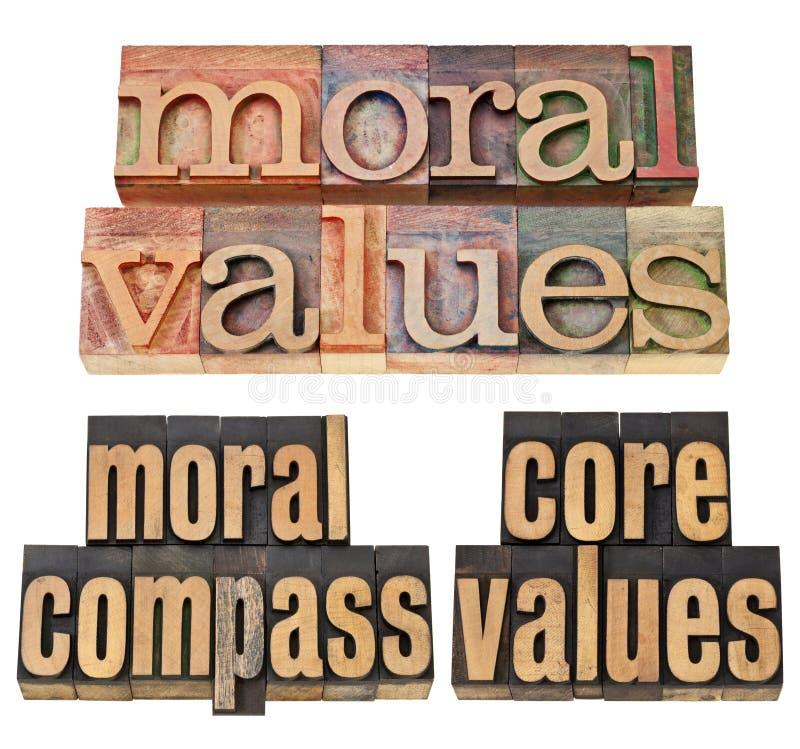 Compas moral - concept d'éthique image stock