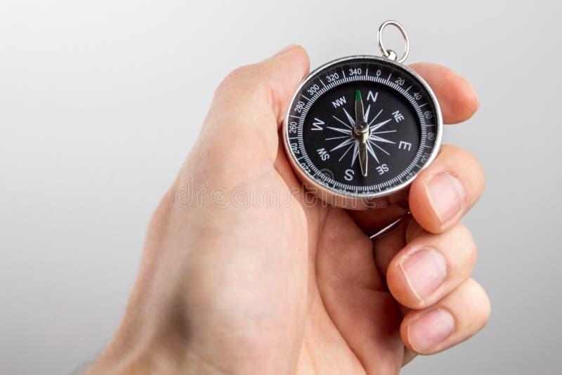 Compas nella mano immagini stock