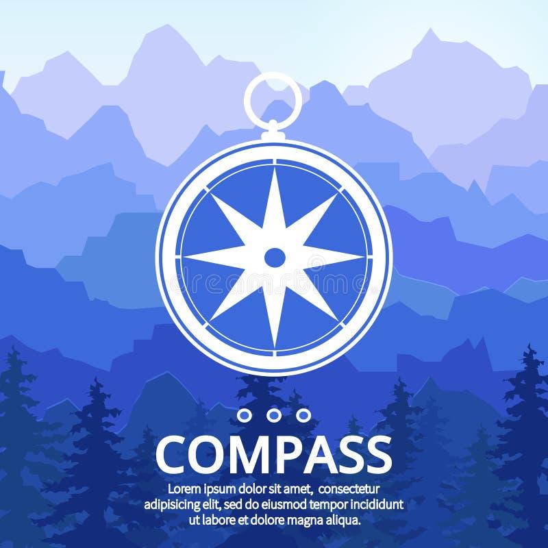 Compas wzrastał royalty ilustracja