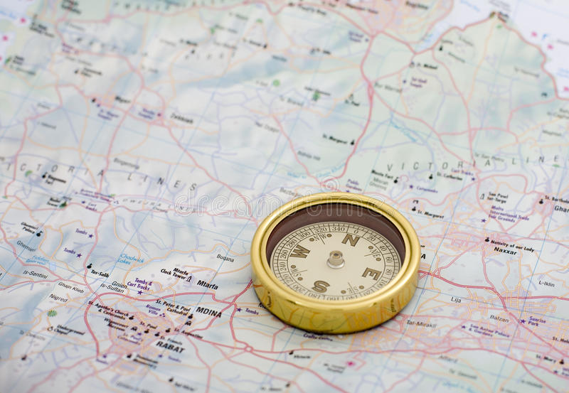 Download Compass stock image. Image of north, travelling, mdina - 12747281