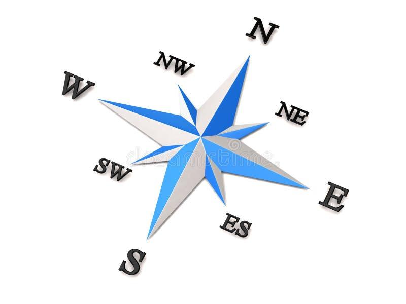Download Compass stock illustration. Image of black, exploration - 15219729