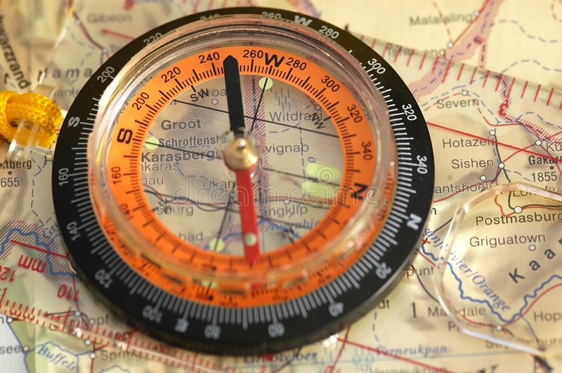 Download Compass stock image. Image of wilderness, compass, hiking - 176497