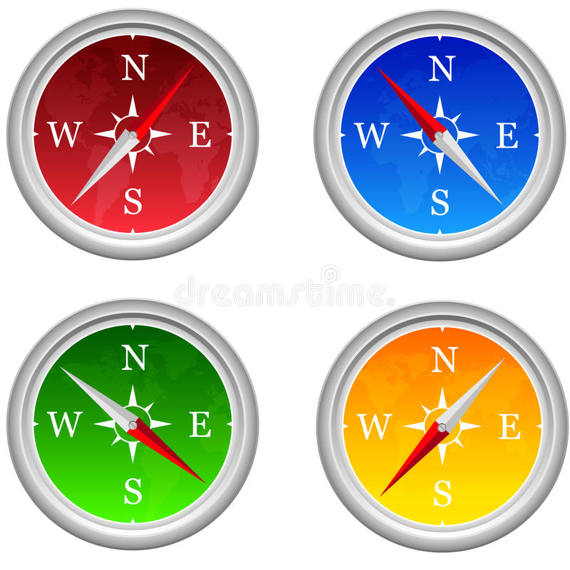 Download Compass stock vector. Image of close, display, america - 23073178