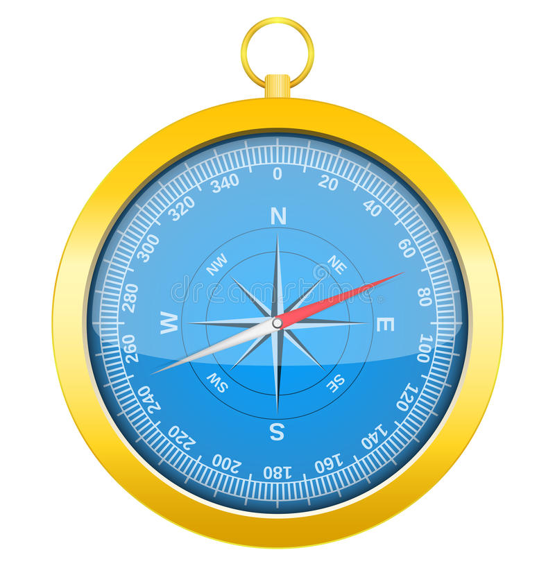 Download Compass stock vector. Image of metal, exploration, icon - 25445387