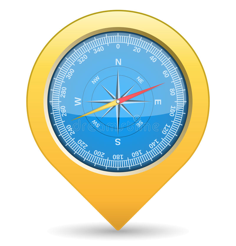 Download Compass stock vector. Image of location, rose, direction - 25659626
