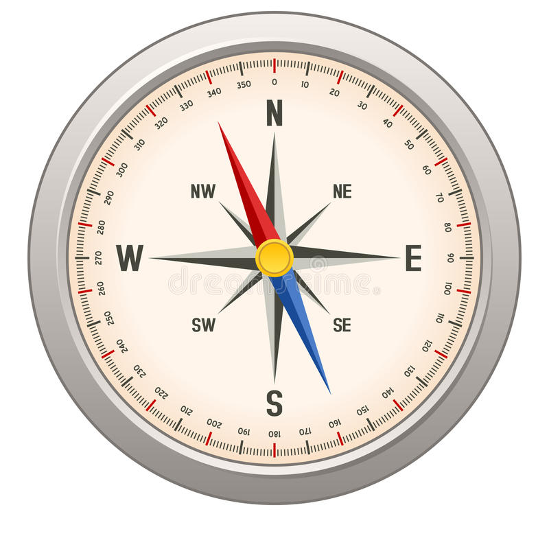 Download Compass stock vector. Image of instrument, navigation - 27361337