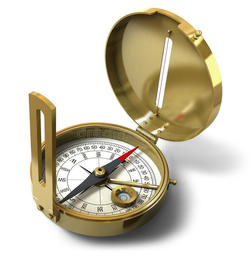Download Compass stock image. Image of compass, lost, object, south - 4298171