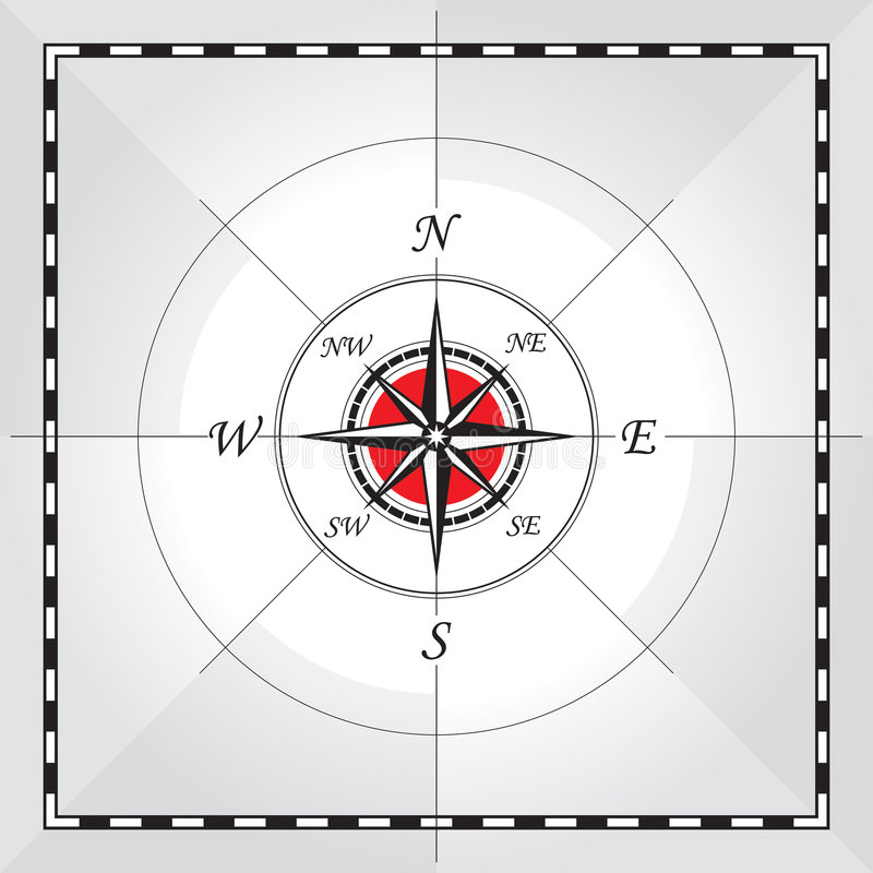 Download Compass stock vector. Illustration of west, guide, east - 6072294