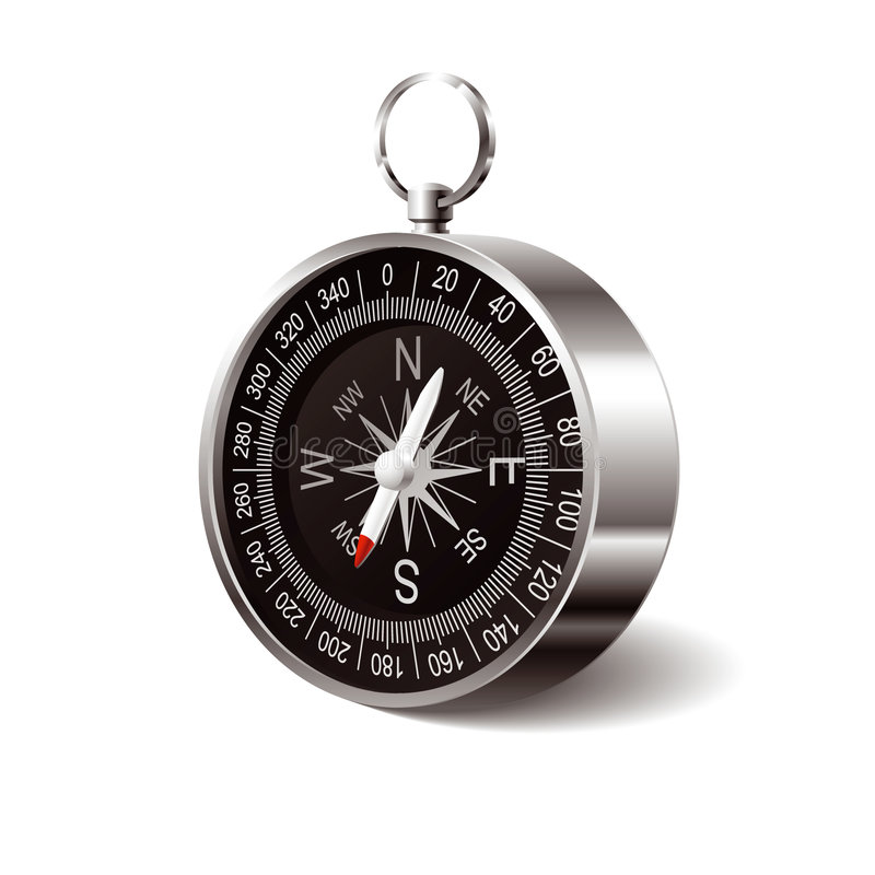 Download Compass stock vector. Image of wind, needle, accuracy - 6375963