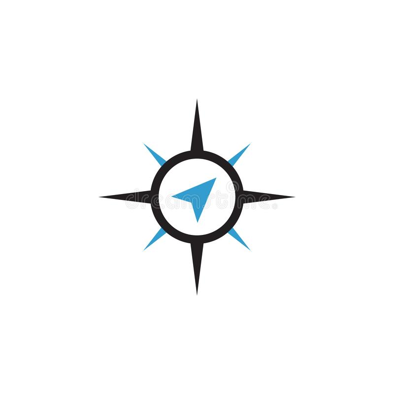 Compass abstract icon graphic design template isolated. Direction, symbol, travel, logo, blue, survival, journey, silhouette, style, sea, circle, navigator stock photos