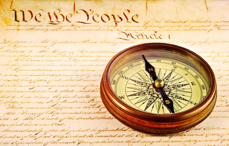 Download Compass And American Constitution Stock Image - Image: 26955877