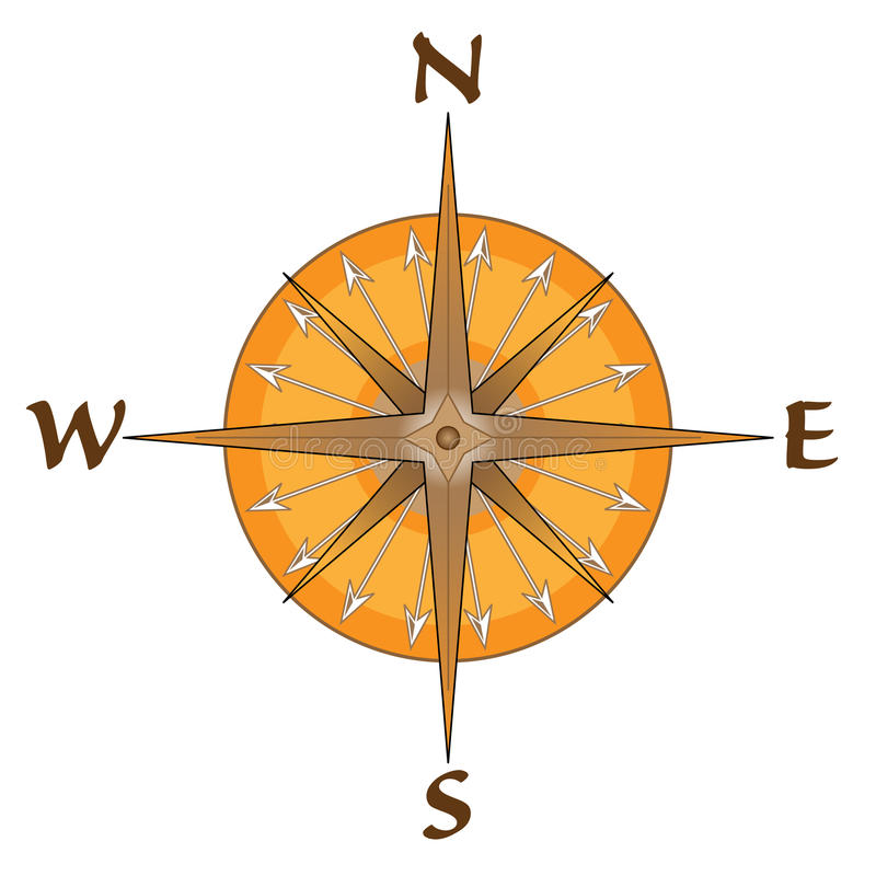 Download Compass With Arrow Points stock illustration. Illustration of isolated - 23094050