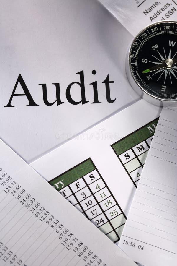 Compass and audit stock photos