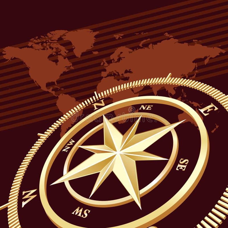 Compass background stock illustration