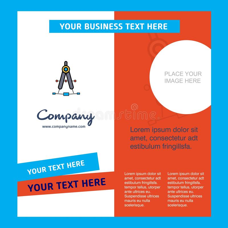 Compass Company Brochure Template. Vector Busienss Template royalty free illustration