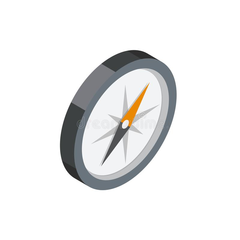 Compass 3D isometric icon vector illustration