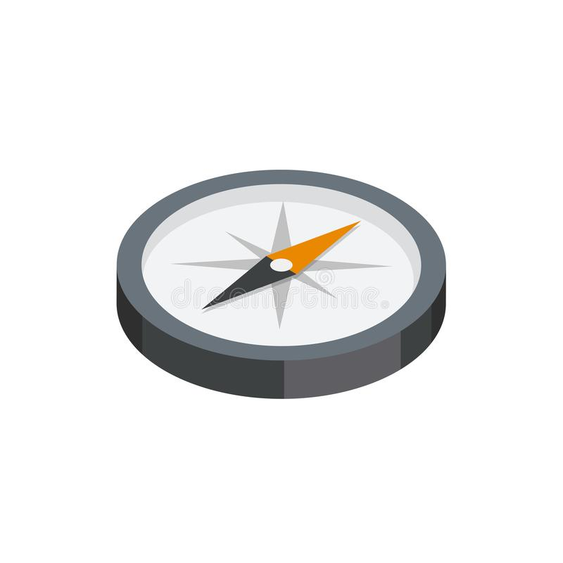 Compass 3D isometric icon royalty free illustration